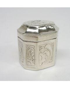 Zilveren lodereindoosje, Cornelis van Gelderen, Schoonhoven 1853