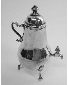 Zilveren miniatuur kraantjeskan, Jan Borduur, Amsterdam, 1752