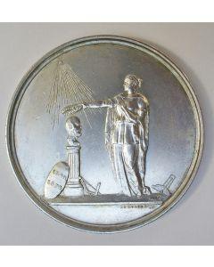 Hulde van de Orde van Vrijmetselaren in Nederland aan Koning Willem III, 1874.