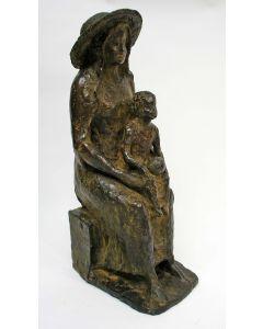 Anne Hofte, Moeder met kind, brons, 1972
