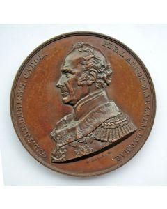 [Vrijmetselarij] Penning ter ere van Prins Frederik der Nederlanden bij het vervullen gedurende 50 jaar van het ambt van Grootmeester-Nationaal der Vrijmetselaren, 1866