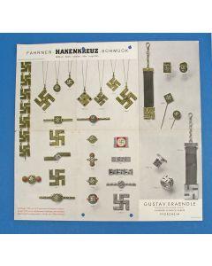 'FAHRNER - HAKENKREUZ - SCHMUCK', folder met afbeeldingen van de Theodor Fahner fabriek, ca. 1935