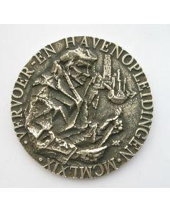 Zilveren penning Vervoer- en Havenopleidingen, Rotterdam 1969 (door Willem Verbon)