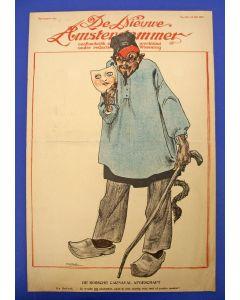 Willy Sluiter, De Bossche carnaval afgeschaft, litho voor de Nieuwe Amsterdammer, 1917