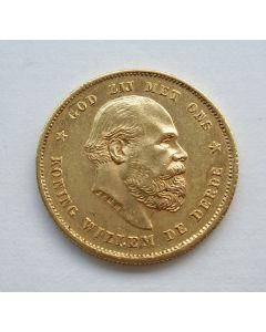 10 gulden goud, 1886