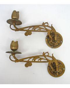 Art Nouveau pianokandelaars