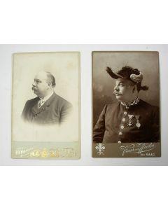 Gesigneerde portretfoto's van W.B. van Liefland (1857-1919), stadsarchitect van Den Haag, ontwerper van de Scheveningse Pier en het Circustheater (1899).