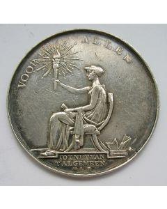 Penning ter gelegenheid van het 25-jarig bestaan van de Maatschappij tot Nut van het Algemeen, 1809