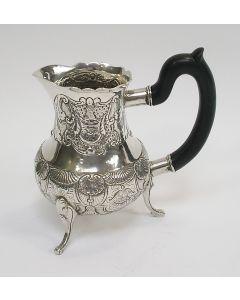 Zilveren roomkan, David de Klerk, Haarlem, 1767
