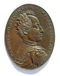 Plaquette, Koning Karel XII van Zweden