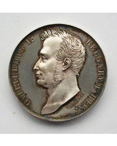 Zilveren penning, Kroning van Willem I te Brussel, 1815