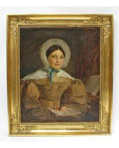 Belgische School, portret van een jonge dame, ca. 1825