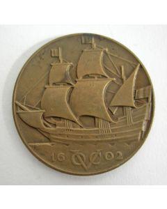 VPK Jaarpenning 1928-2, Verbinding Nederland-Indië (Henri Etienne)