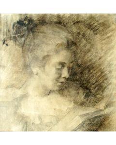 Théresè Schwartze, portret van Lizzy Ansingh, tekening