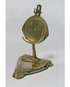 Messing horlogestandaard / vide-poche, Jugendstil, ca. 1900