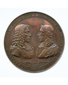 Plaquette, Gebroeders Cornelis en Johan de Witt