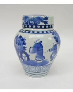 Japans Arita dekselpot, 19e eeuw