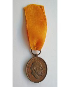 Medaille voor IJver en Trouw in brons, 1877