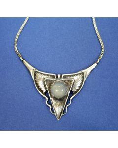 Fons Reggers, zilveren collier met maansteen, ca. 1930