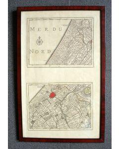 Deelkaarten van de kustlijn van de Noordzee tussen Naaldwijk en Katwijk, 18e eeuw