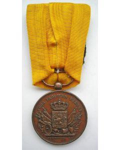 Medaille voor Langdurige Trouwe Dienst in brons, met ontwerpersnaam Schouberg, 19e eeuw