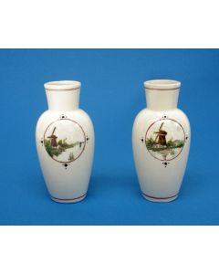 Stel vaasjes met landschapsvoorstelling, Amphora Oegstgeest, ca, 1910/20