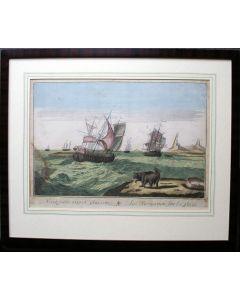 Opticaprent, de Walvisvaart, 18e eeuw