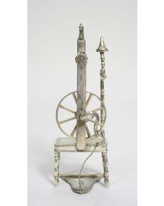 Miniatuur zilveren spinnewiel, Sneek, 19e eeuw