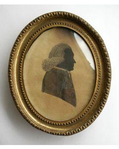 Silhouetportret van de predikant Bernhard Wilhelm Altmann, ca. 1790/1800