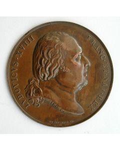 Plaquette, Lodewijk de XVIII van Frankrijk