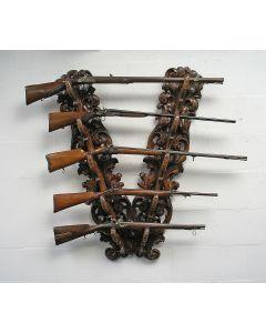 Gebeeldhouwd houten gewerenrek, Luik/Limburg, 18e eeuw