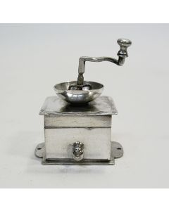 Miniatuur zilveren koffiemolen, Arnoldus van Geffen, Amsterdam, 1753