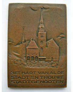 Plaquettepenning, Historische tentoonstelling Amsterdam, Beurs van Berlage, 1925 [Bernard Richters]
