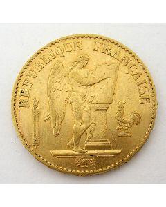 Frankrijk, 20 francs goud, 1876A
