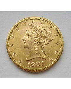 Gouden 10 dollar USA, 1901 S