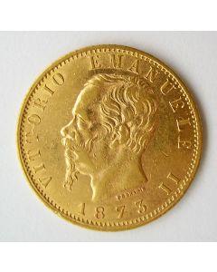 Italië, 20 lire goud 1873