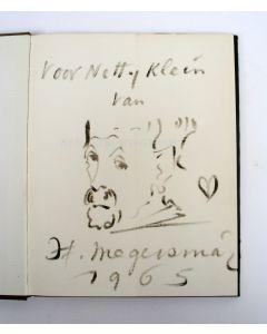 Boek met zelfportret van Hendrik Wiegersma, 1965