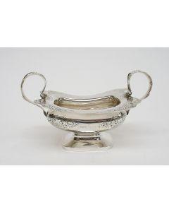 Zilveren suikerpot, gemerkt Bennewitz, 1850