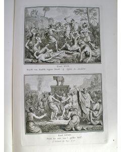 'Historie des ouden en nieuwen Testaments', prentbijbel met 250 gravures, 1772