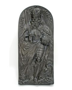 Gietijzeren plaquette, Karel de Grote