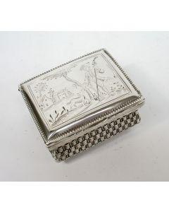 Gegraveerde zilveren snuifdoos, Frederik van Houten, Gouda, ca. 1788