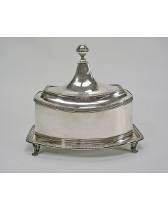 Empire zilveren tabakspot, Hendrik Smits, Amsterdam, 1808
