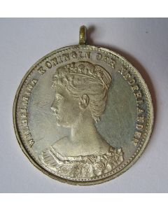 Draagpenning, Inhuldiging van Koningin Wilhelmina, 1898