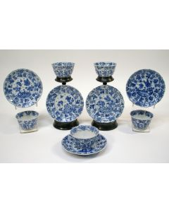 Chinese porseleinen kommen en schotels, Kangxi periode