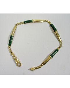 Gouden armband met malachiet