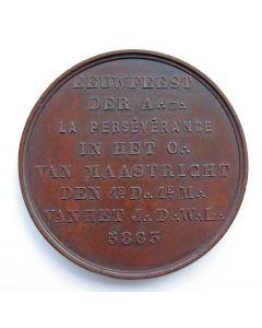 Penning ter gelegenheid van het eeuwfeest van  Loge La Perséverance, Maastricht, 1863 [Vrijmetselarij]