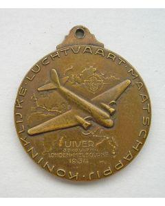 Draagpenning, De Uiver, 1934