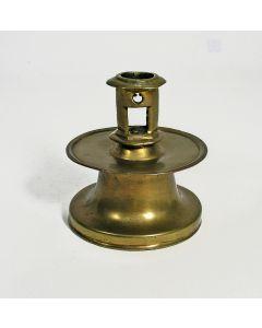 Kristallen inktpot met zilveren deksel, 19e eeuw