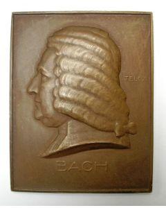 Plaquette, Bach, Eduard Telcs, ca. 1930