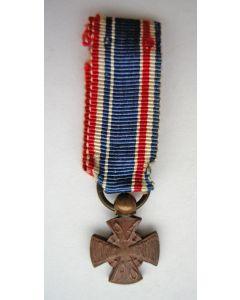 Mobilisatiekruis 1914-1918, miniatuur